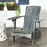 Safavieh Patio Collection Hampton Adirondack Acacia Wood Chair, Ash Grey