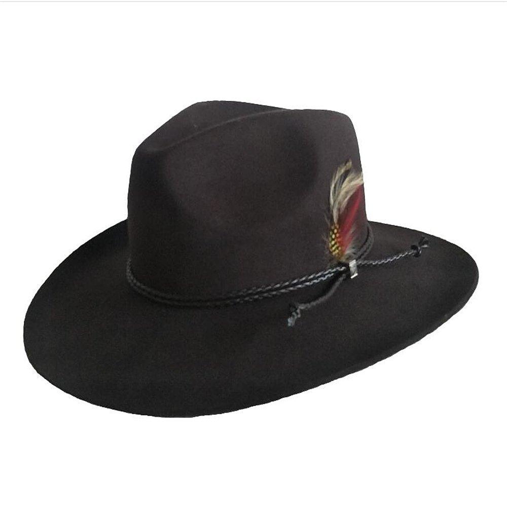 Shuo lan hu wai Der Herbst und Winter Wolljazzmütze Herren Pure Western Cowboy Style Hut