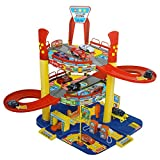 Kids Parking Car Toy with 6 Cars Puzzle Educational Plastic Toy Garage for Baby