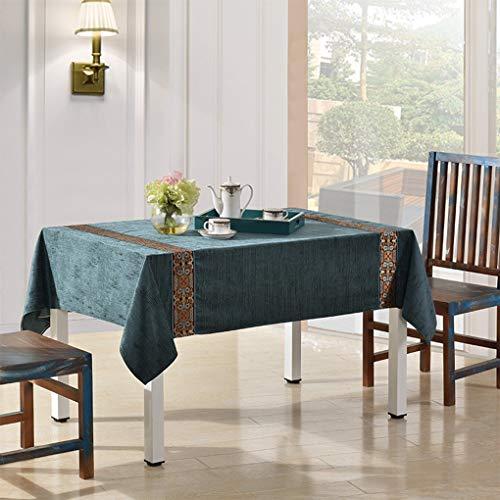 B 135X135cm Zhuobu Nappe de nappe de table basse de couleur unie rétro nappe épaisse ZBU (Couleur   B, Taille   135X135cm)