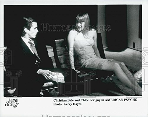 """2000 Squeeze Photo Actor Christian Bale, Chloe Sevigny in """"American Psycho"""" Film"""