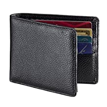 RFID Blocking Wallet, Secure & Stylish Genuine Leather Wallets for Men - Extra Capacity Multi Card Travel Bifold Sleek and Stylish Gift, Made with Genuine Leather, RFID Wallet..