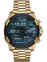 On Men's Full Guard Gold-Tone Stainless Steel Smartwatch DZT2005, Color: Gold-Tone