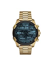 Diesel On Full Guard Touchscreen Gold-Tone Stainless Steel Smartwatch DZT2005