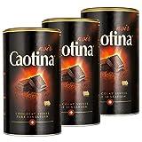 Caotina noir, Cocoa Powder with Dark Swiss Chocolate, Hot Chocolate, 3 Pack, 3 x 500g