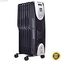 COLIBROX--1500W Electric Oil Filled Radiator Heater Safe Digital Temperature Adjust Timer,programmable room thermostat,thermostat models,programmable thermostats,home thermostat replacement