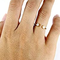 Birthstone Ring - Sterling Silver Dual Ring - Couples Birthstone Ring - Dainty Ring - Personalized Ring - Love Ring - Custom Birthstone Ring