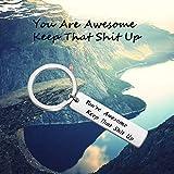 LQRI Inspirational Keychain You are Awesome Keep