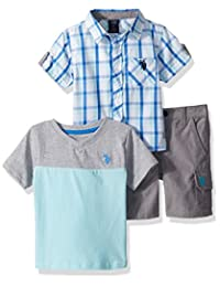 U.S. Polo Assn................ Boys Short Sleeve Shirt, T-Shirt and Short Set