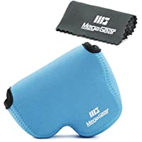 MegaGear Ultra Light Neoprene Camera Case Bag with Carabiner for Nikon COOLPIX B500 Digital Camera (Blue)