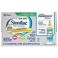 Similac Pro-Advance Infant Formula with 2'-FL HMO for Immune Support, Ready to Feed Newborn Bottles, 2 fl oz, (48 Count)