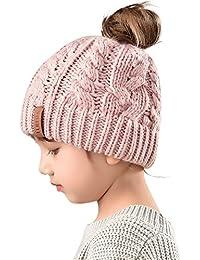 Winter Hats For Girls Ponytail Beanie Hat Kids Toddler...