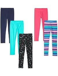 b188673ab Amazon Brand - Spotted Zebra Girls' Toddler & Kid 5-Pack Leggings