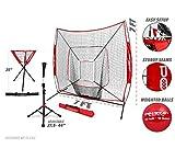 PowerNet 7x7 DLX Practice Net + Deluxe Tee + Ball