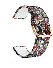PATROHOO Watch Bands Compatible with Samsung Galaxy Watch Active (40mm) Bands, 20mm Soft Silicone Strap for Samsung Galaxy Watch(42mm) / Galaxy Watch Active (40mm).