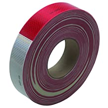 "3M T967983R Reflective Tape, 2"" x 150' Red/White"