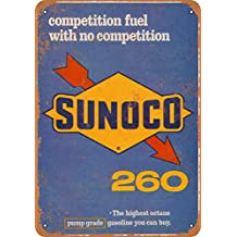 Wall-Color 7 x 10 Metal Sign - 1966 Sunoco 260 Racing Fuel Highest Octane Gasoline - Vintage Look Reproduction