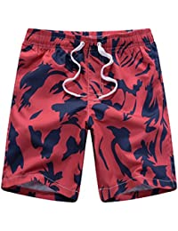 Danial Mens Quick Dry Tropical Floral Camouflage Boardshort Swim Trunk Beach Shorts