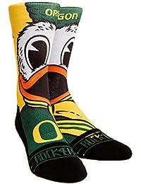 Rock 'Em Elite Oregon Ducks - The Duck Mascot Licensed L/XL Crew Socks