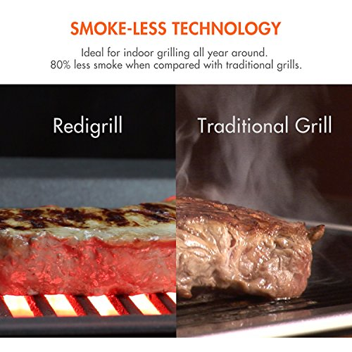 Black, Indoor Smokeless Infrared Grill by Tenergy