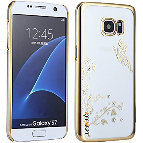 Luxury Samsung Galaxy S7 Case, Keenest [Transparent] Crystal Back Bumper Case Cover Ultra Thin Hard Clear Light Weight Case for Samsung Galaxy S7 (Butterfly Sales