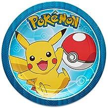American Greetings Pokémon 8 Count Dessert Small Round Plate