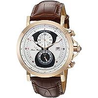 Lucien Piccard Men's 40015-RG-02S-BRW Pegasus Analog Display Quartz Brown Watch