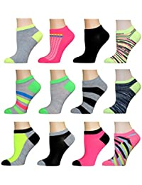 AirStep Women's No Show Athletic Socks - 12 Pack