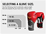 Everlast Pro Style Boxing Training Gloves Red, 10