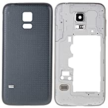 iPartsBuy Full Housing Cover Replacement(Middle Frame Bazel Back Plate Housing Camera Lens Panel + Battery Back Cover Replacement) Samsung Galaxy S5 Mini G800(Black)