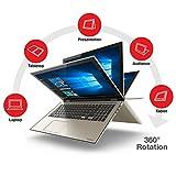 "2016 Toshiba Satellite Fusion L55W 15.6"" Full HD 2-in-1 Touchscreen Convertible Laptop, Intel Core i7-6500U Processor, 8GB RAM, 256GB SSD, Backlit Keyboard, Webcam, WIFI, Windows 10"