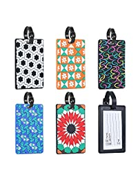 Luggage Tags Id Card Holder Retractable - [5 Packs] Ablerv Waterproof Badge Holder Carabiner Reel Clip On Heavy Duty Luggage Bag Silicone Tags Travel Tags