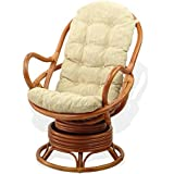 SunBear Furniture Cushion for Lounge Swivel Rocking Chair, Cream (Just Cushion)
