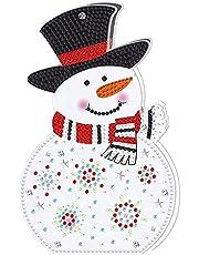Diamond Painting zestaw dekoracyjny LED, diamentowy zestaw do malowania diamentowego, światło w kształcie kryształków, styl bożonarodzeniowy, dziesięć możliwości, dekoracja nocna LED, do aktywności rodziców i dzieci (C)