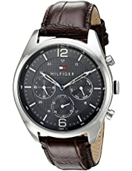 Tommy Hilfiger Mens 1791184 Sophisticated Sport Watch With Brown Leather Band