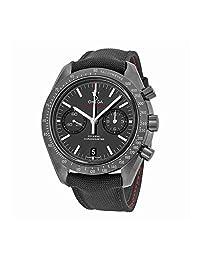 Omega Speedmaster Co-Axial Chronograph Black Dial Black Fabric Mens Watch 31192445101003