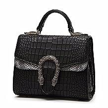 Las mujeres de cuero bolso Messenger Bag Flap handle Satchel retro