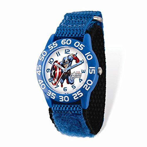 Marvel+Watches Products : Marvel Captain America Acrylic Blue Nylon Time Teacher Watch