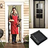 Anti Mosquito Bug Insect Fly Magic Magnetic Screen Door Hands-Free Net Mesh Curtain Household Accessories Black