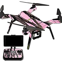 MightySkins Protective Vinyl Skin Decal for 3DR Solo Drone Quadcopter wrap cover sticker skins Pink Tree Camo