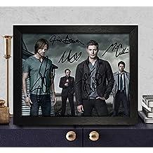 Supernatural Signed Autographed Photo 8X10 Reprint Rp Pp - Jim Beaver, Mark Sheppard, Misha Collins, Jared Padalecki & Jensen Ackles
