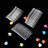 Pangda 10 Pieces Hair Clip Combs 14 Teeth Plastic