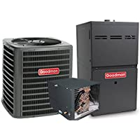 3.5 Ton Goodman 14 SEER R410A 92% AFUE 80,000 BTU Horizontal Gas Furnace Split System (Yes, please add one to my order)