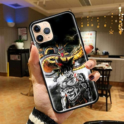 Amazon.com: Japan Anime Dragonball Dragon Ball Z Son Goku Vegeta Tempered Glass Cases for iPhone 12 Pro Max Cover Coque Back Shell (7, iPhone 12 Pro Max)