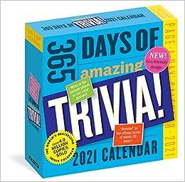 Amazon.com: 365 Days of Amazing Trivia! Page A Day Calendar 2021