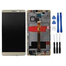 HYYT LCD Display and Touch Screen Digitizer Glass Replacement with Frame Full Assembly for Huawei Mate 8 (Gold)