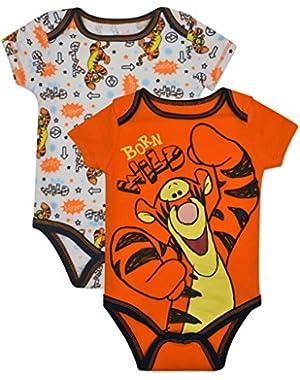 Baby Boys' Tigger Onesies 2-Pack - Orange,