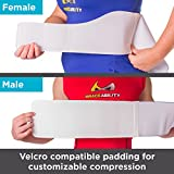 BraceAbility Rib Injury Binder Belt | Universal Rib Cage Protector Wrap for Sore or Bruised Ribs Support, Sternum Injuries, Pulled Muscle Pain and Strain Treatment