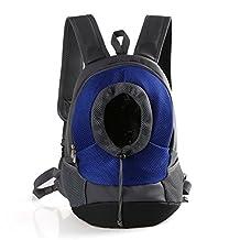 Yimidear Pet Carrier Backpack Dog Cat Pet Bag Portable Outdoor Travel Backpack (M, Blue)