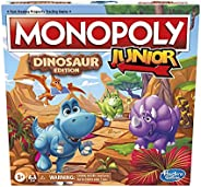 Hasbro Gaming Monopoly Junior: Dinosaur Edition Board Game for 2-4 Players, Fun Indoor Games for Kids Ages 5 a